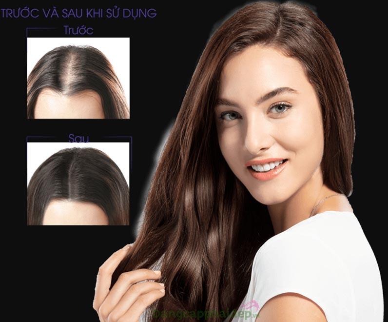 Sau 2 tuần sử dụng sẽ cảm nhận sự thay đổi tích cực của mái tóc