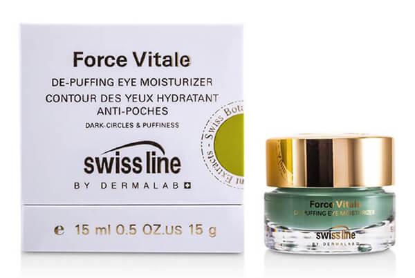 gel trị quầng thâm và bọng mắt Swissline De Puffing Moisturizer