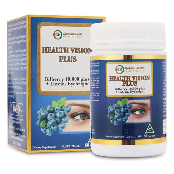 Viên uống bổ mắt Golden Health Health Vision Plus giúp mắt sáng tinh anh