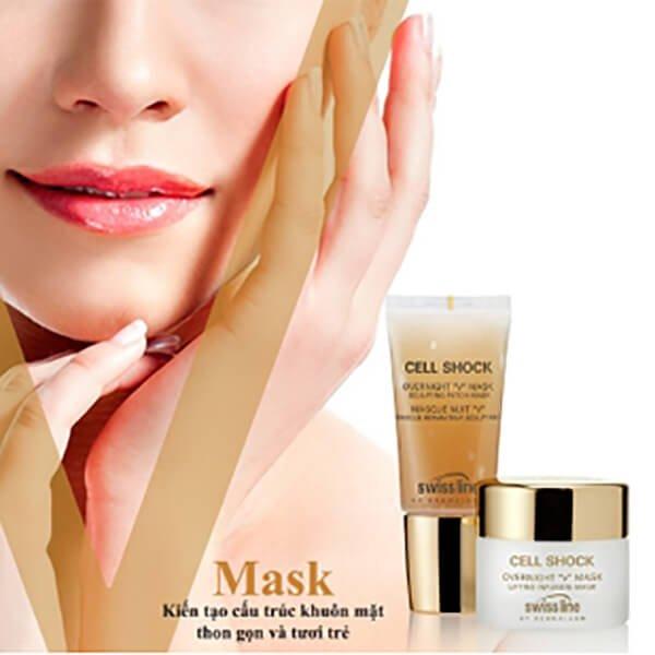 Mặt Nạ Ngủ Swissline Overnight V Mask Biến Hóa Gương Mặt Thon Gọn