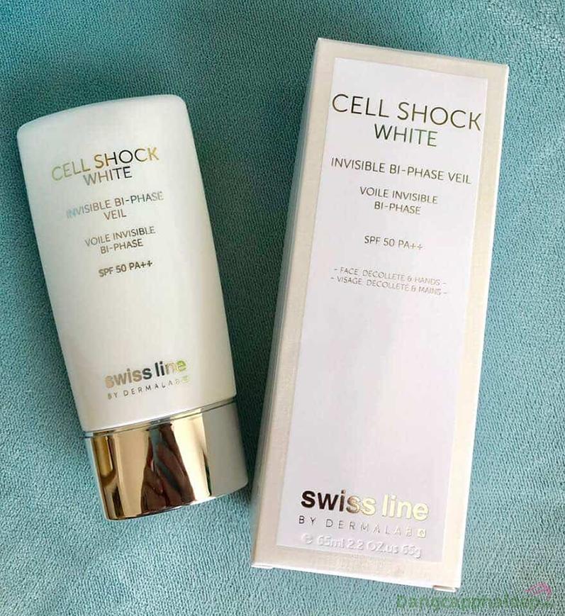 Swissline Cell Shock White Invisible Veil SPF 50 PA++ chống nắng tối ưu, cho làn da khô thoáng, mềm mịn mỗi ngày