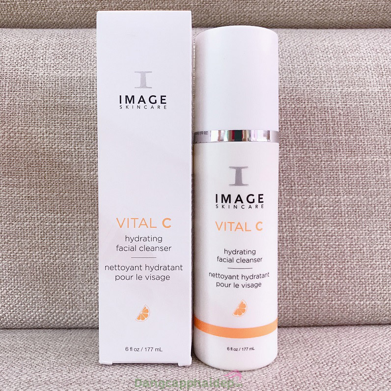 Sửa rửa mặt 3in1 dưỡng ẩm, phục hồi da - Image Vital C Hydrating Facial Cleanser 170g
