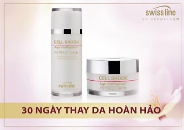 Liệu pháp tế bào sinh học Swissline Cell Shock Age Intelligence Perfect Skin - Ref 1182