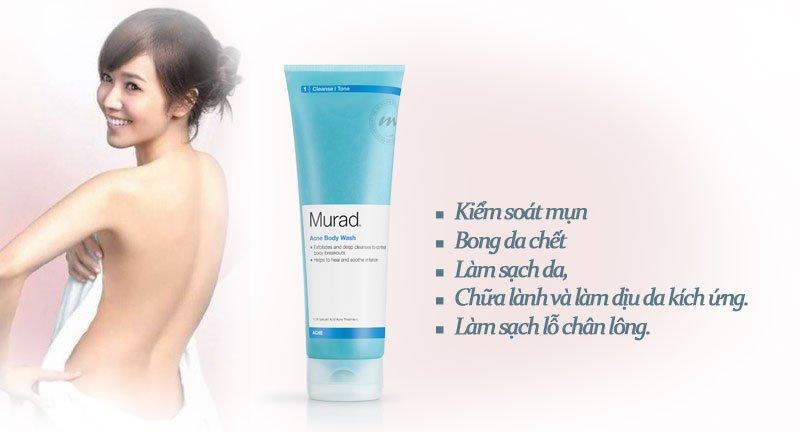 Murad Blemish Body Wash 180ml – Sữa tắm tẩy tế bào chết, giảm mụn cơ thể đến từ Hoa Kỳ