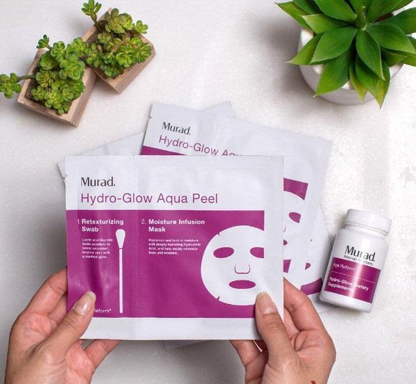 Mặt nạ kích ẩm 400%, hồi sinh da thần kỳ Murad Hydro-Glow Aqua Peel bán chạy số 1 tại Hoa Kỳ