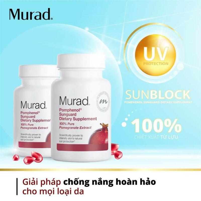 Viên uống chống nắng nội sinh Murad Pomphenol Sunguard Dietary Supplement đến từ Hoa Kỳ