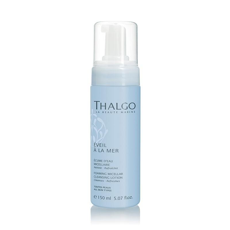 Thalgo Foaming Micellar Cleansing Lotion 150ml – Sữa rửa mặt tẩy trang 2 trong 1 dành cho da thường và hỗn hợp bán chạy số 1 tại Pháp