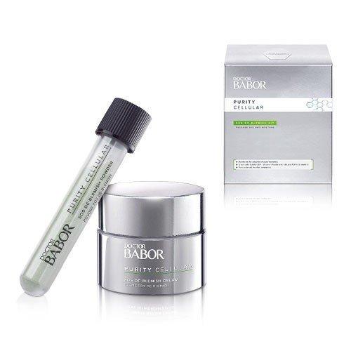 Babor Purity Cellular SOS De-Blemish Cream Kit 50ml + Powder 5g  - Bộ kit dưỡng da giảm mụn, kích ứng dành cho da mụn