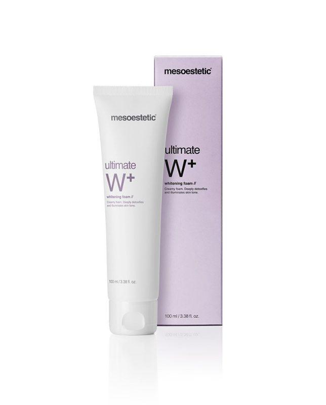 Sữa rửa mặt trắng da tạo bọt Mesoestetic Ultimate W+ Whitening Foam 100ml – Tây Ban Nha