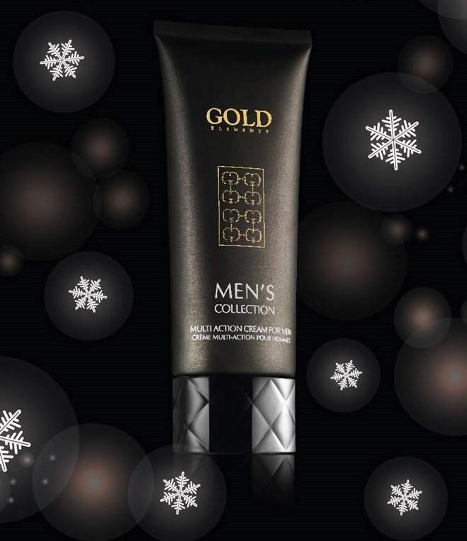 Gold Elements Multi Action Cream for Men - Sữa rửa mặt tái tạo làn da dành cho nam giới