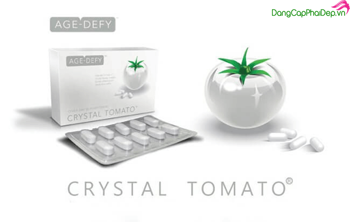Viên Uống Trắng Da Crystal Tomato chiết xuất cà chua trắng