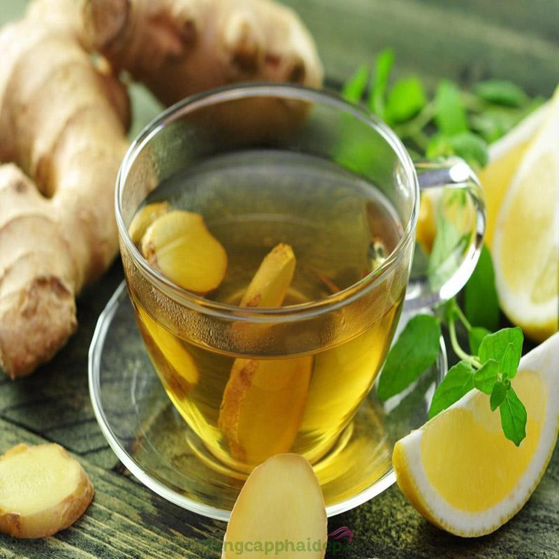 Cách làm nước uống thải độc cơ thể với trà gừng
