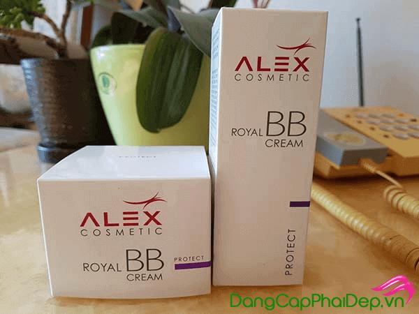 Kem chống nắng vật lý Alex Cosmetic Royal BB Cream trang điểm tái tạo da