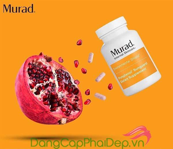 Viên uống chống nắng Murad Pomphenol Sunguard chiết xuất 100% từ hạt lựu đỏ