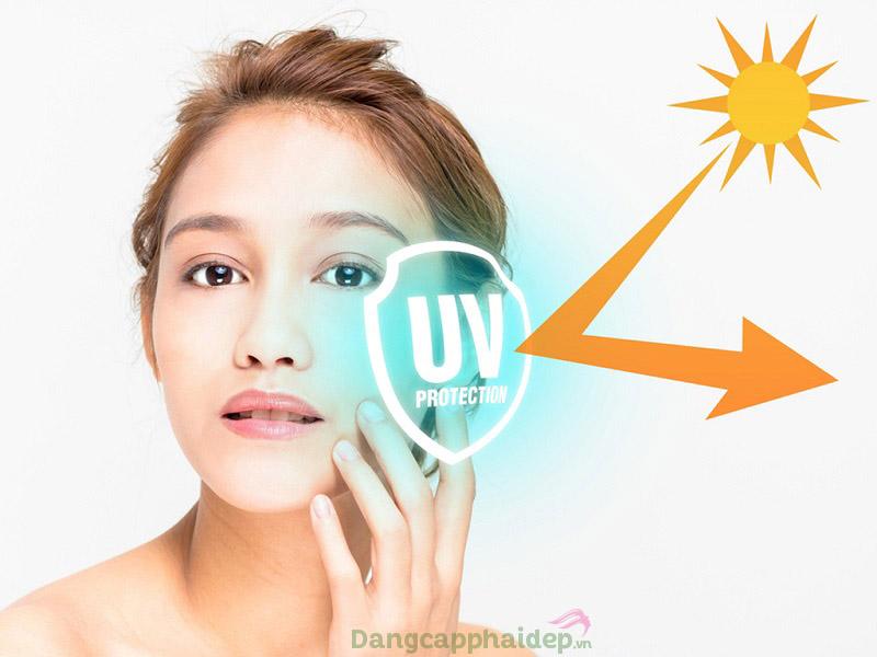 Bảo vệ da tránh tác động gây hại của tia UVA/UVB khi sử dụng kem chống nắng thường xuyên