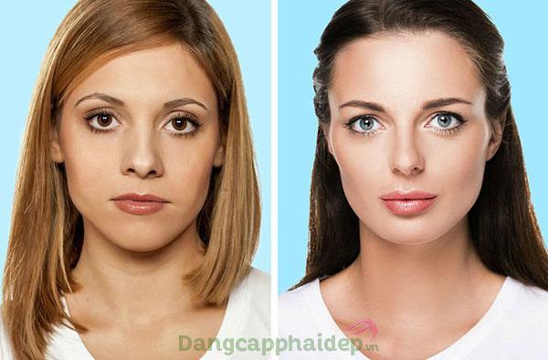 Trước và sau khi sử dụng huyết thanh nâng cơ chống lão hóa Q10 Phytocomplex Serum.
