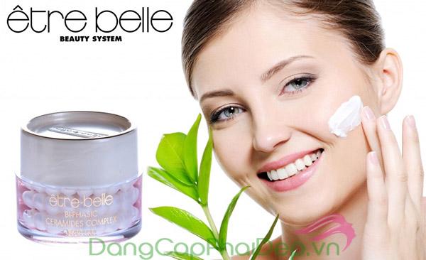 Làn da ẩm mượt, căng khỏe tự nhiên nhờ duy trì sử dụng Etre Belle Bi-Phasic Ceramide Complex