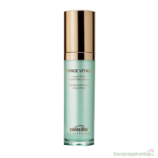 Serum trị mụn viêm, kiềm dầu và se khít chân lông Swissline Force Vitale Aqua-Pure Clarifying Serum 30ml – Thụy Sỹ - REF 1127