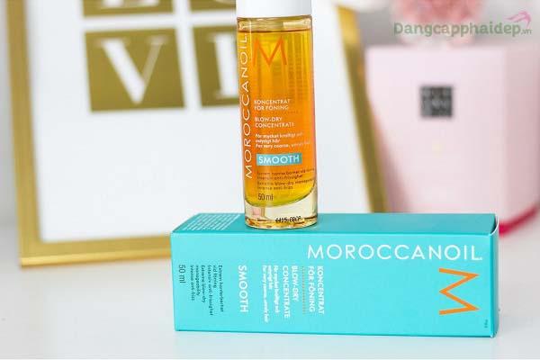 Tinh dầu sấy tóc Moroccanoil Smooth - Bí kíp chăm sóc tóc dày và bông xù hoàn hảo.