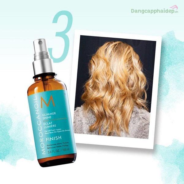 Xịt bóng Moroccanoil Finish Glimmer Shine giúp mái tóc bóng sáng rực rỡ tức thì