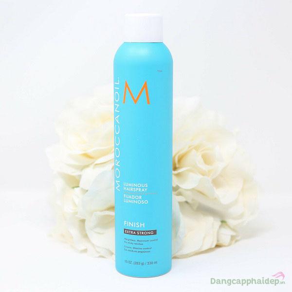 Xịt bóng giữ nếp siêu mạnh Moroccanoil Luminous Hairspray Extra Strong