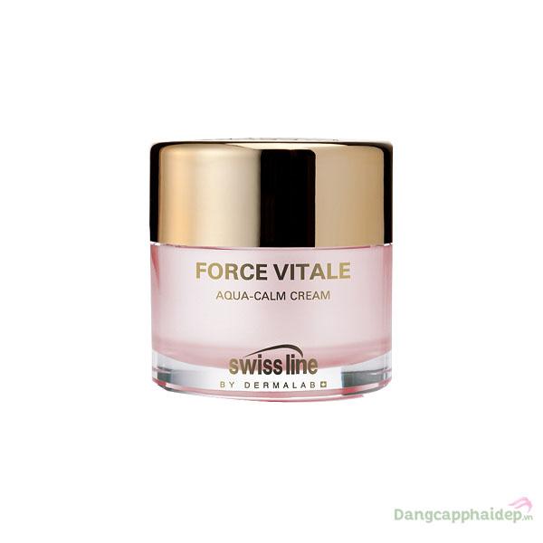 Swissline Force Vitale Aqua - Calm Cream 50ml - Kem đặc trị phục hồi da nhạy cảm, dị ứng nổi tiếng tại Thụy Sỹ - MS 1124