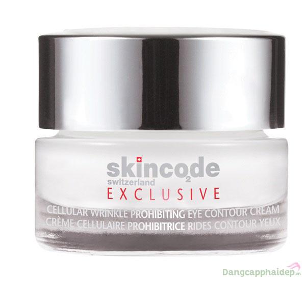 Skincode Cellular Wrinkle Prohibiting Eye Contour Cream giúp bạn khắc phục nhanh tình trạng bọng mỡ, nếp nhăn, quầng thâm mắt