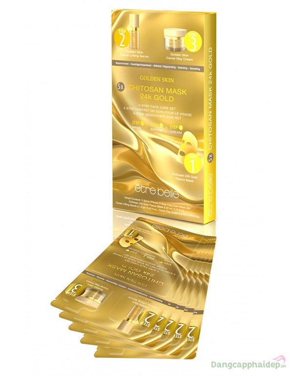 Mặt Nạ Vàng 24K Etre Belle Chitosan Mask 24K Gold Bán Chạy Số 1 Tại Đức