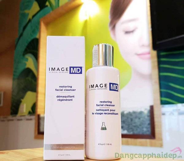 Image MD Restoring Facial Cleanser chứa bộ 3 glycolic acid, lactic acid và salicylic acid