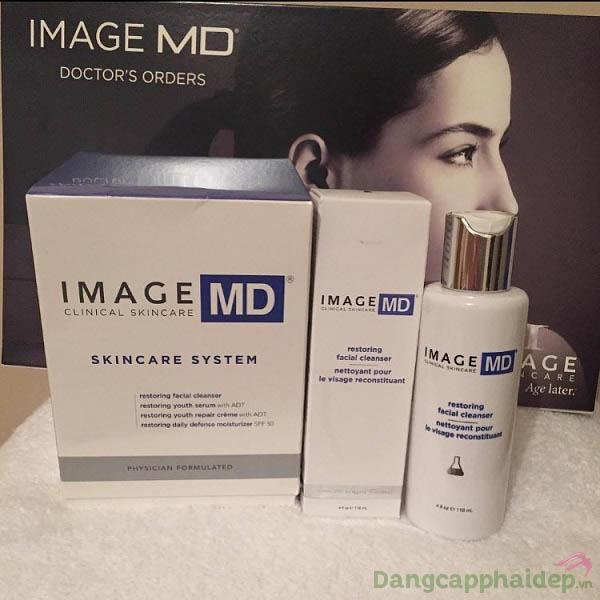 Khách hàng review sữa rửa mặt trẻ hóa da Image MD Restoring Facial Cleanser