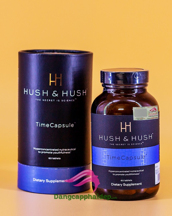 Hush & Hush Time Capsule – Viên Uống Mờ Nám, Trẻ Hóa Da Nổi Tiếng Tại Mỹ