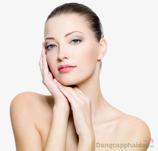 Làn da căng sáng, mịn màng và tươi trẻ chỉ sau thời gian ngắn sử dụng Swissline Youth Booster