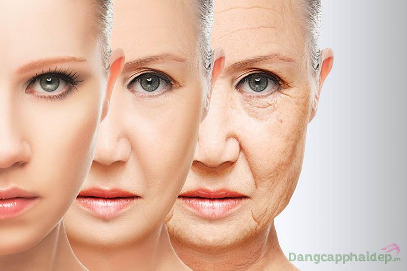 Theo thời gian, làn da dần xuất hiện các dấu hiệu lão hóa