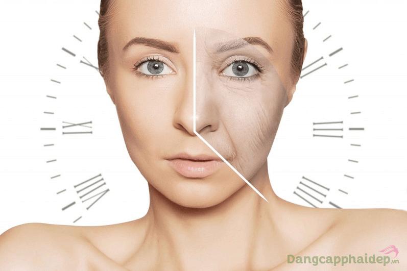 Theo thời gian, dưới tác động của tuổi tác, môi trường...làn da xuất hiện các dấu hiệu lão hóa