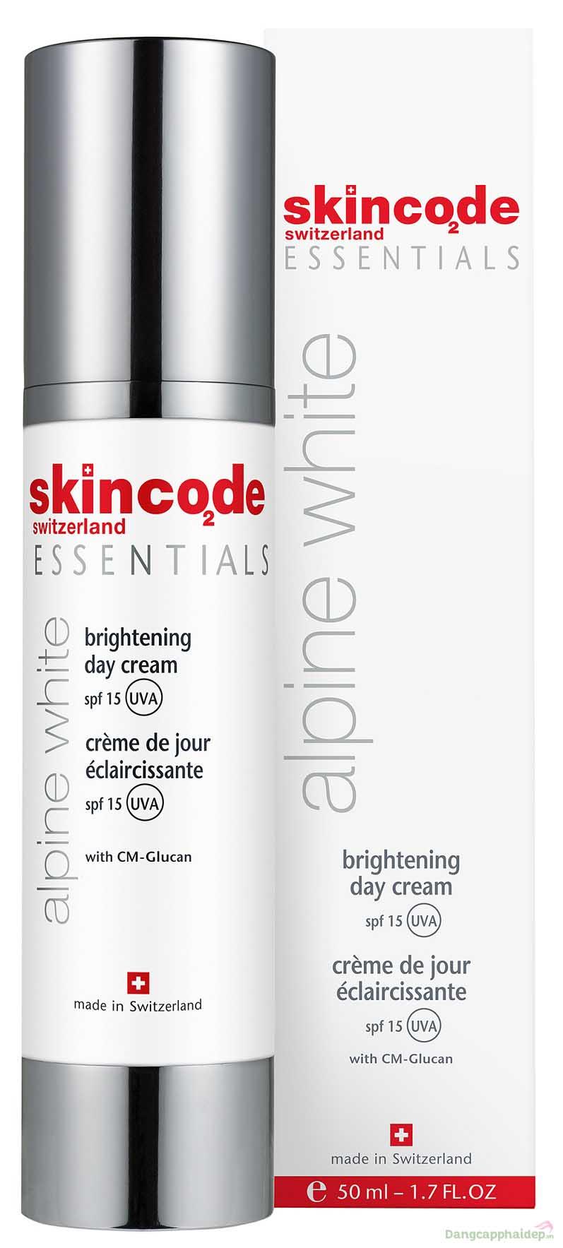 Kem dưỡng trắng chống nắng ban ngày Skincode Brightening Day Cream SPF15