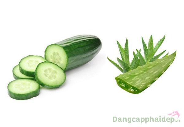 Sản phẩm chứa chiết xuất từ thực vật tự nhiên lành tính như lô hội, dưa leo...