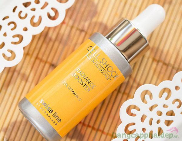 """Muốn có làn da trắng sáng các nàng phải """"bỏ túi"""" ngay Swissline Cell Shock Radiance Booster Vitamin C 10%"""