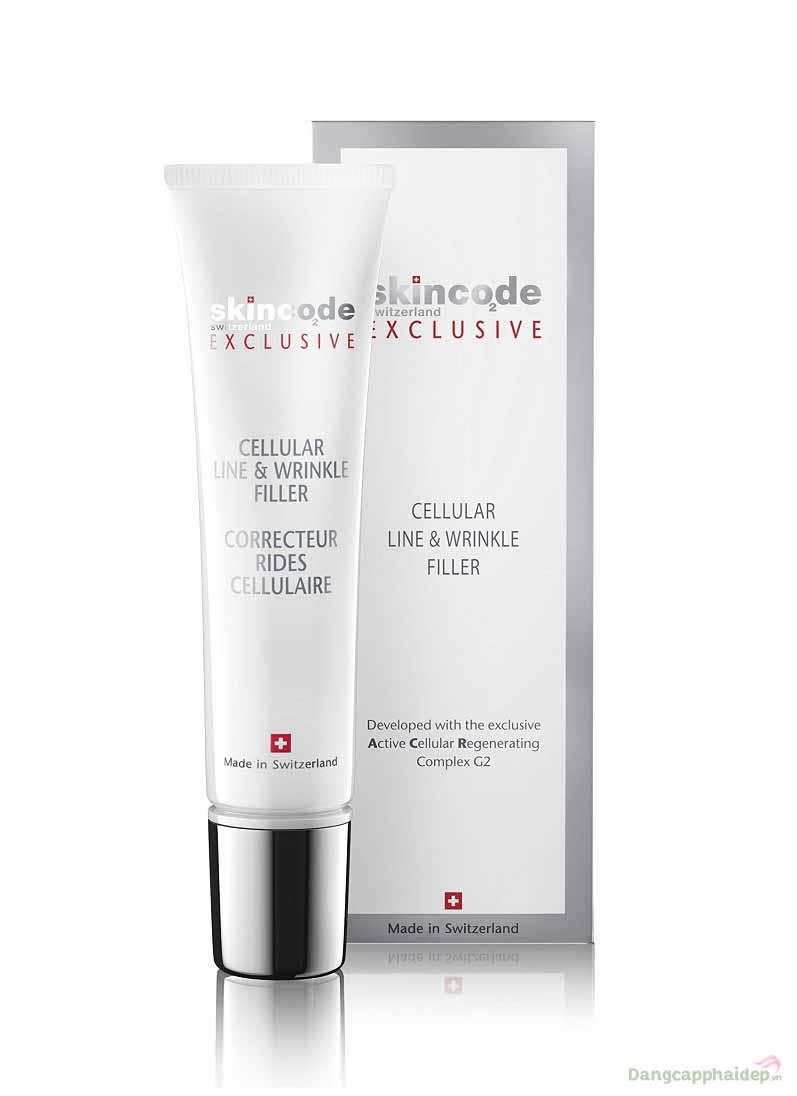 Hợp Chất Làm Đầy Xóa Nếp Nhăn, Nếp Gấp Sâu Cấp Tốc Skincode Exclusive Cellular Line Wrinkle Filler 15ml – Thụy Sĩ