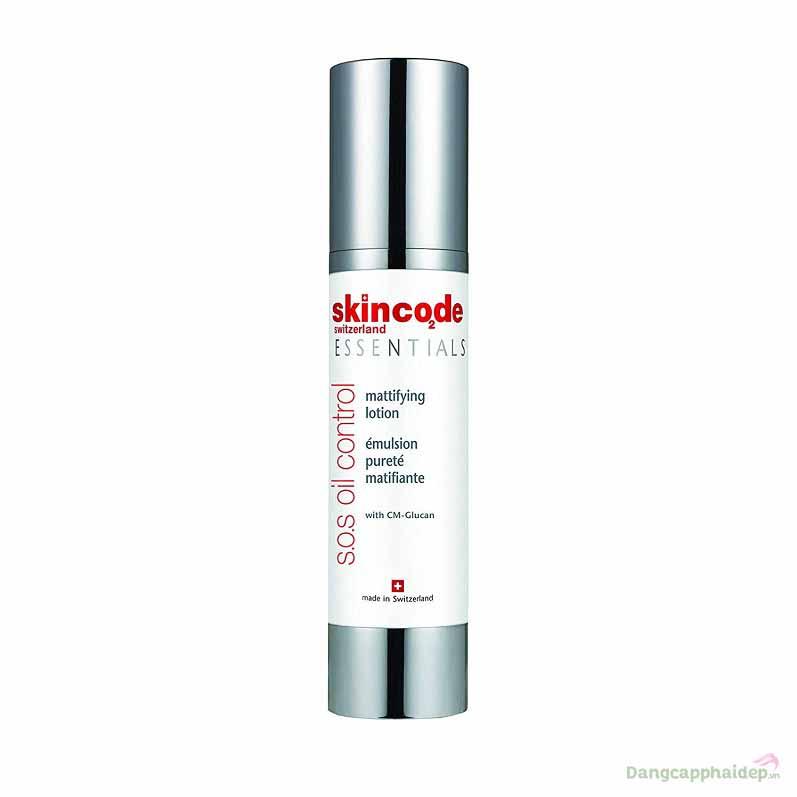 Skincode Essentials S.O.S Oil Control Mattifying Lotion – Nhũ Tương Cân Bằng Dầu, Trị Mụn Và Phục Hồi Da Cấp Tốc Thụy Sĩ