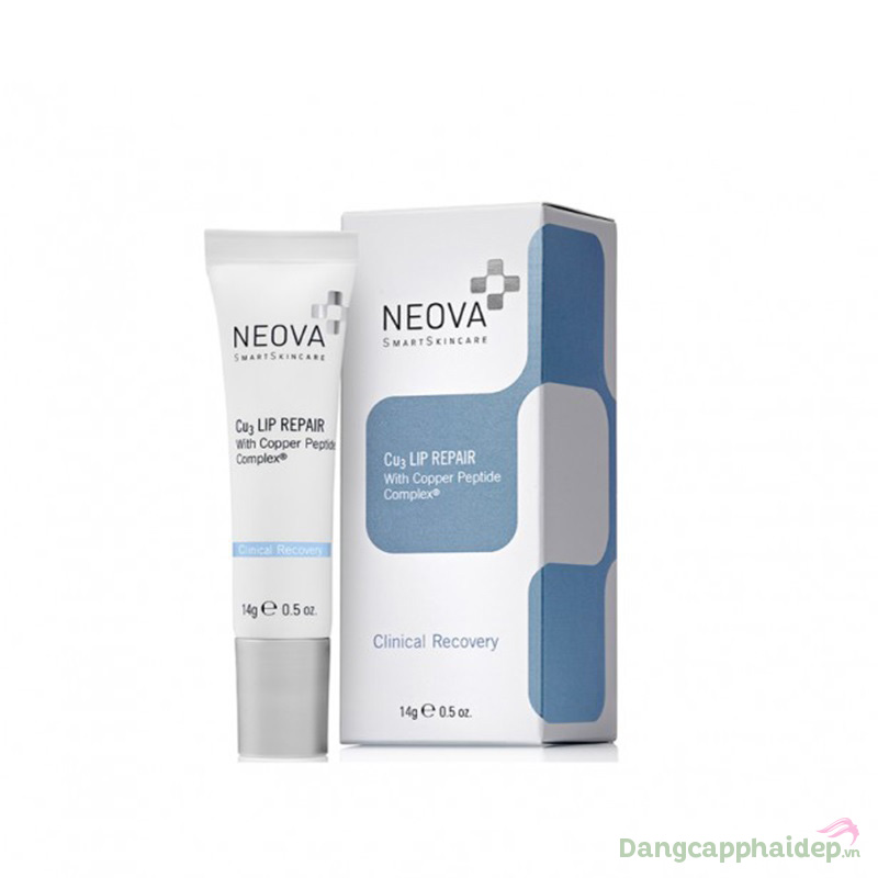 Neova Cu3 Intensive Lip Repair 14g – Kem Dưỡng Môi Giảm Thâm, Xóa Nhăn Cao Cấp