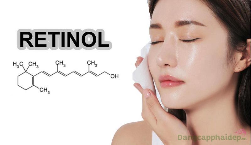 Retinol giúp xóa nếp nhăn, dưỡng da tươi mới, căng mượt tự nhiên