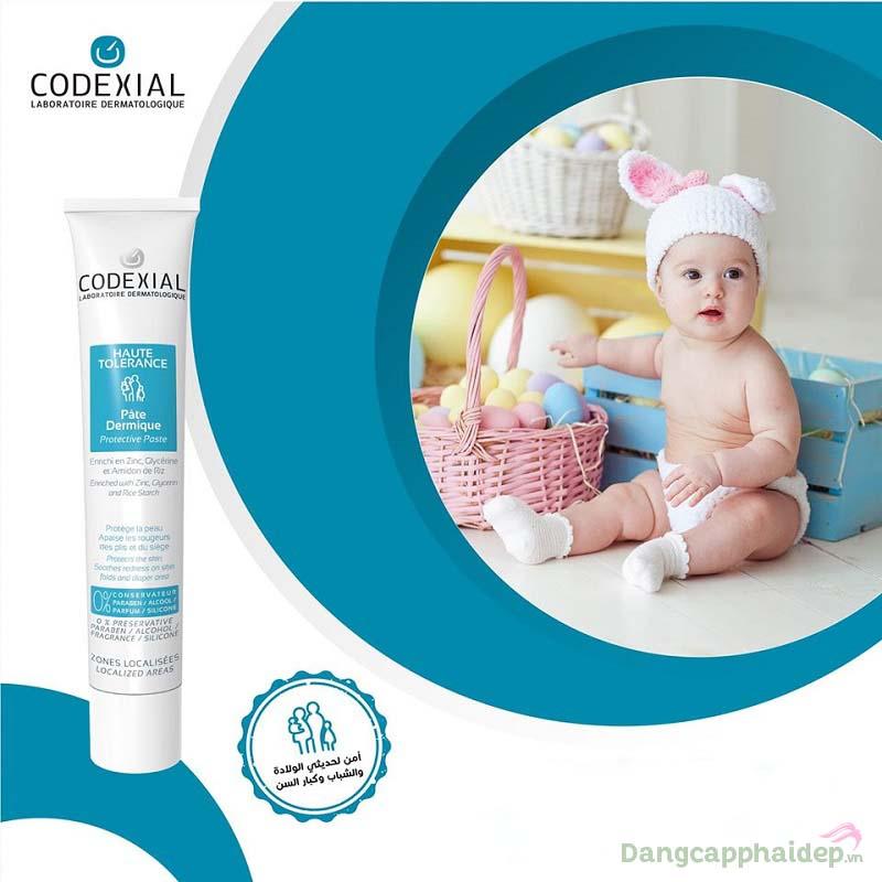 Dùng ngay kem giảm kích ứng và hăm da Codexial Protective Paste