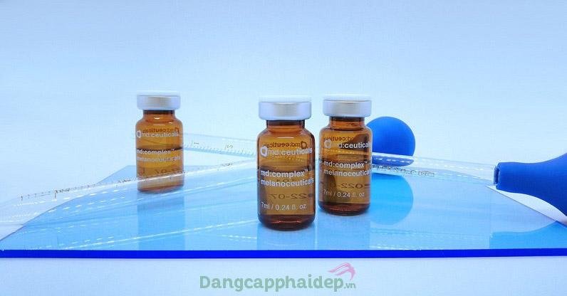 Vì đã có tiêm trị nám, tàn nhang Md:ceuticals Md Complex Melanoceuticals