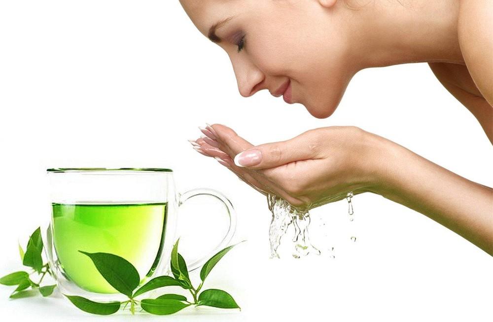 dưỡng da với trà xanh