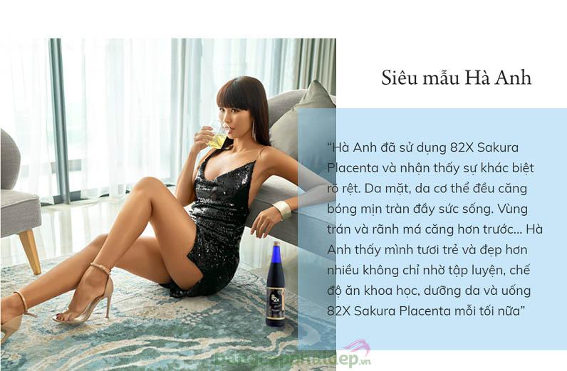 Những chia sẻ tw siêu mẫu Hà Anh sau khi sử dụng 82X Sakura Placenta Premium