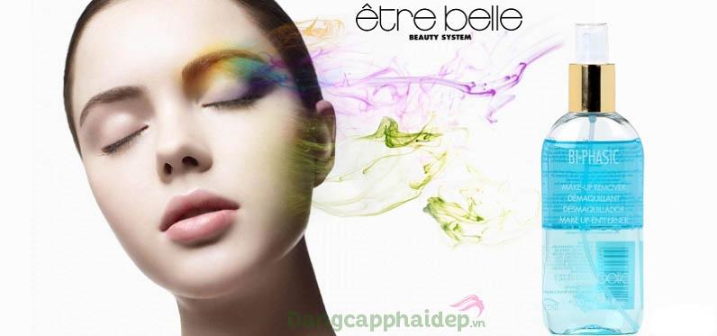 Etre Belle Bi-Phasic Make-Up Remover tẩy sạch cả mascara không trôi, phấn mắt nhiều màu...