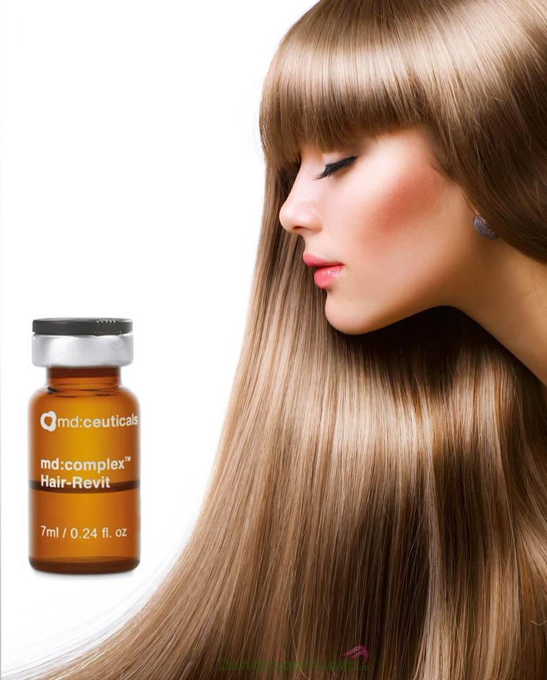Tóc mọc dày, chắc khỏe và mềm mượt hơn khi được chăm sóc bởi Md:Ceuticals Md Complex Hair-Revit