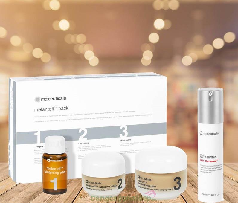 Trọn bộ Md:Ceuticals Melan Off Depigmentation Treatment gồm 4 sản phẩm