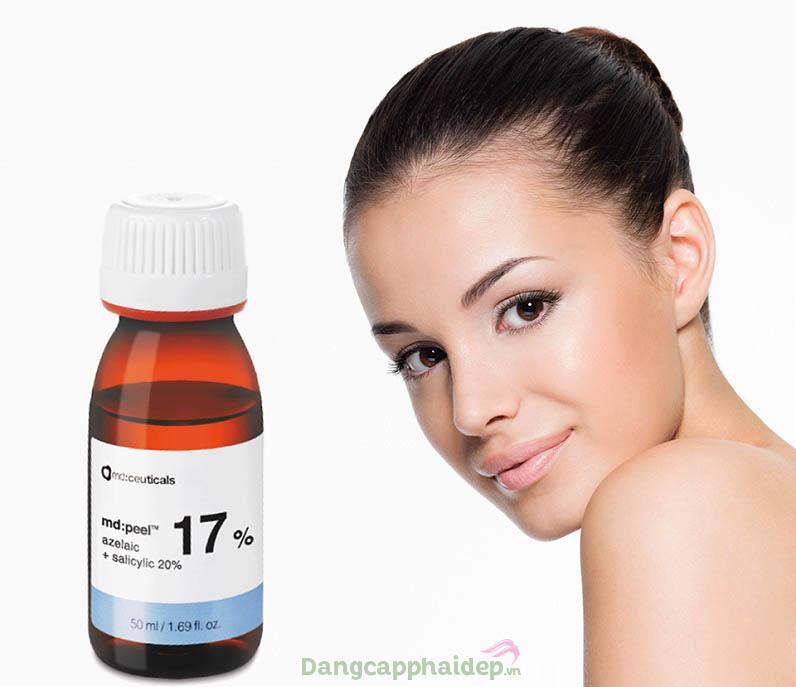 Trị mụn, giúp làn da đều màu tươi sáng với dung dịch Md:Peel Azelaic 17% & Salicylic 20%