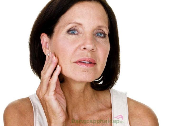 Da chùng nhão, chảy xệ về lượng collagen thiếu hụt theo thời gian